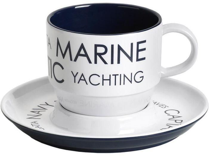 SEA чайная чашка с блюдцем, набор 6 шт.