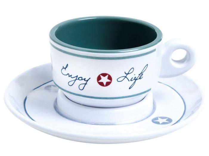 ENJOY LIFE кофейная чашка с блюдцем, набор 6 шт.