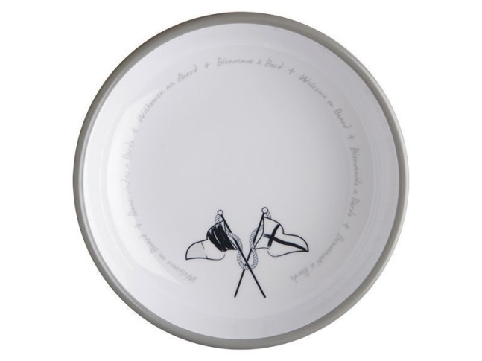 WELCOME ON BOARD тарелка для супа с нескользящей основой, набор 6 шт.