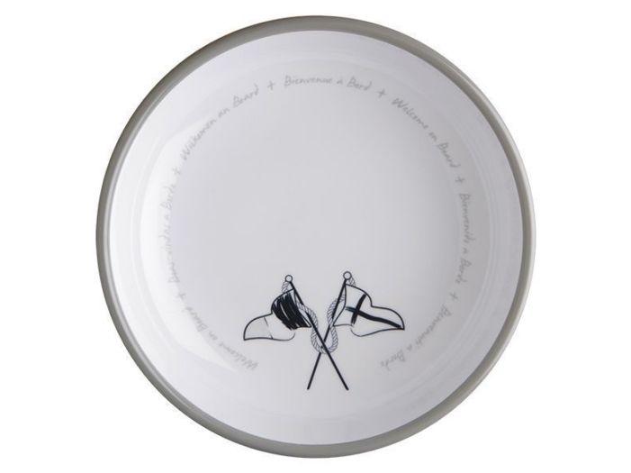WELCOME ON BOARD тарелка суповая с нескользящей основой, набор 6 шт.