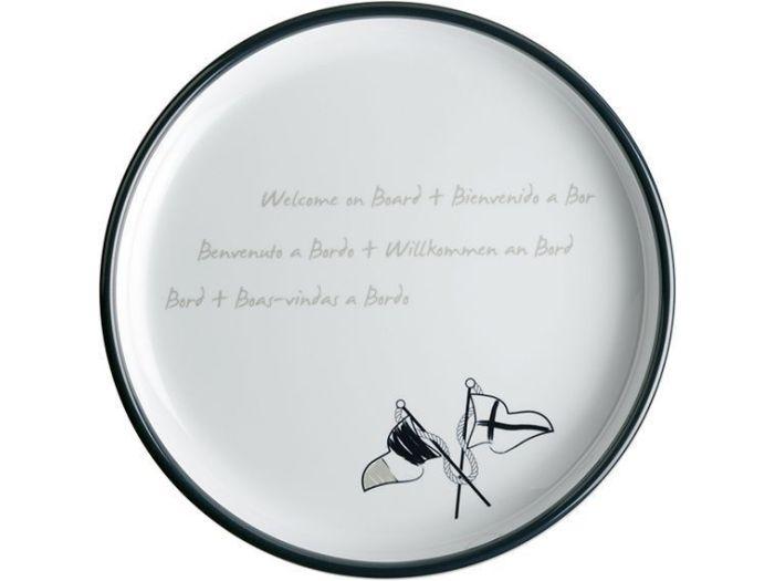 WELCOME ON BOARD тарелка десертная с нескользящей основой, набор 6 шт.