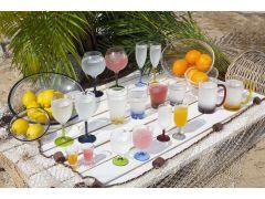 PARTY бокал для воды/вина, цветное основание, набор 6 шт