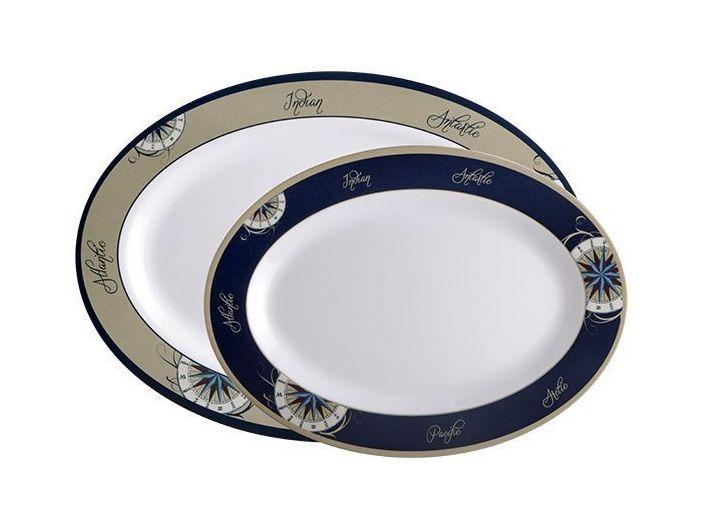 OCEANS сервировочные тарелки, набор 2 шт.