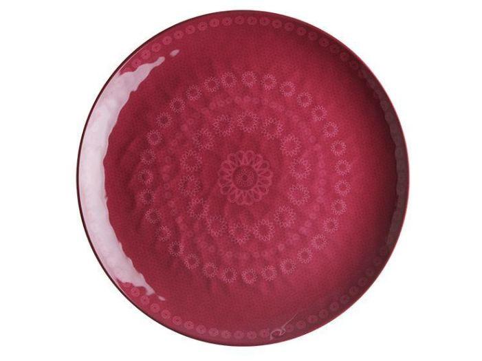 ROSETTE тарелка плоская, пурпурная набор 6 шт.