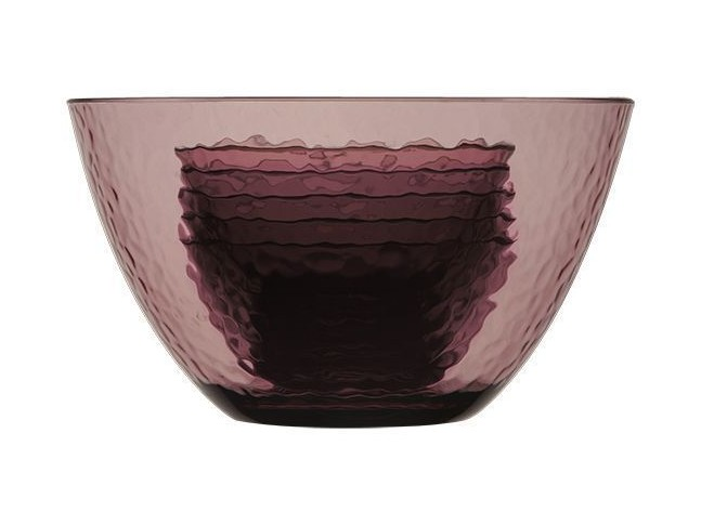 ROSETTE большая салатница с 4 глубокими тарелками, пурпурная