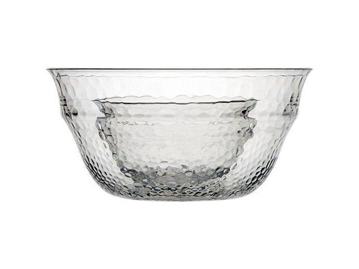 ROSETTE большая салатница с 4 глубокими тарелками, цвет льда