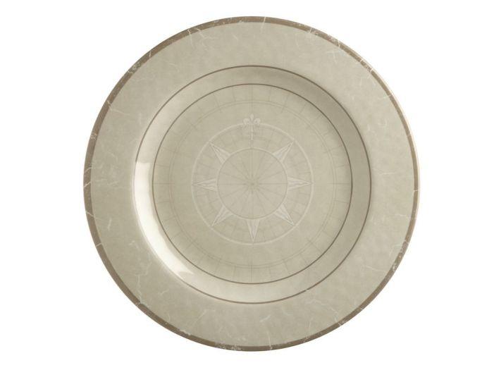 BALI тарелка плоская, цвета слоновой кости набор 6 шт.