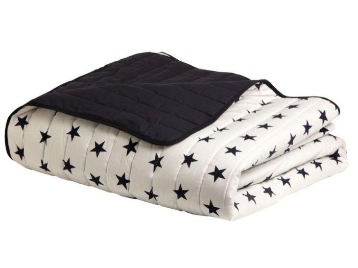 ROYAL Двухспальное легкое одеяло, белое со звездами