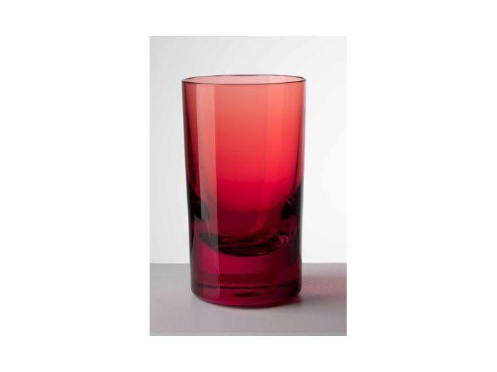 MARIO GIUSTI Стакан для воды WHISKEY, красный
