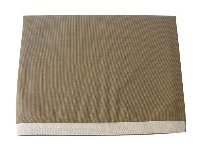WATERPROOF Скатертина водовідштовхувальна, темно-бежева з бежевим бортом, 115 х 100 см