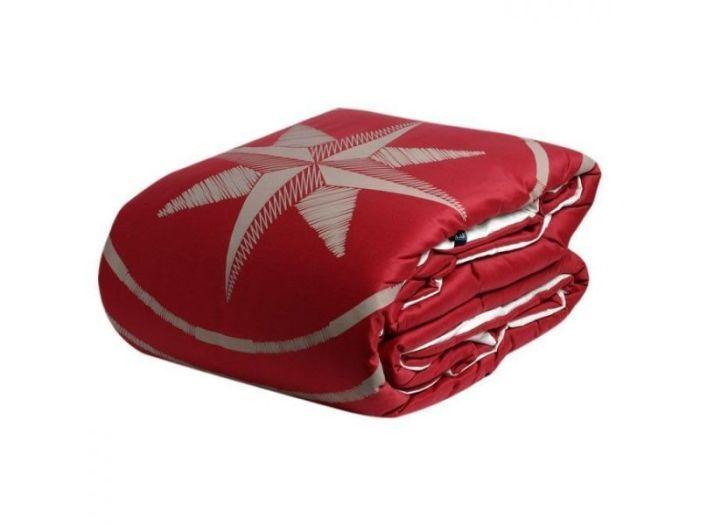 FREE STYLE двуспальное одеяло, бордовое