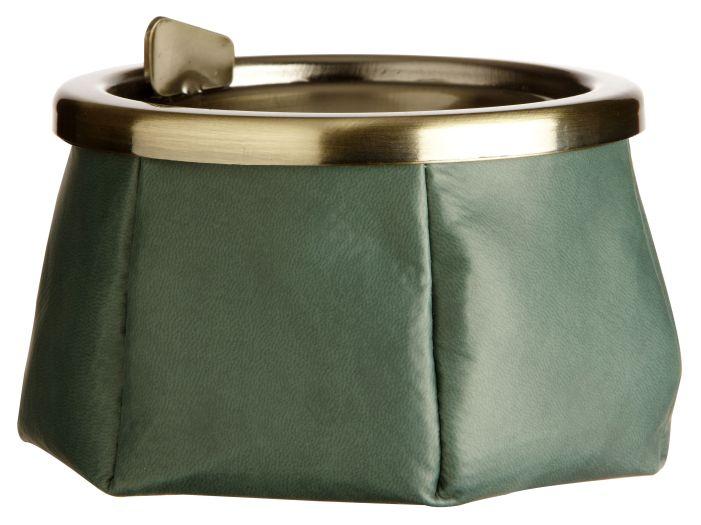 WINDPROOF Premium пепельница темно-зеленого цвета, заменитель кожи (LIMITED EDITION)