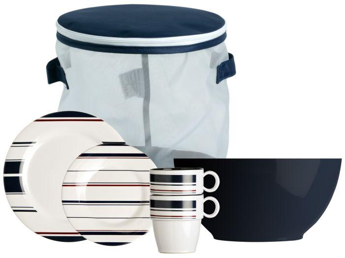 MONACO набор посуды с нескользящей основой, 13 шт.