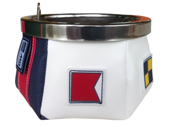 WINDPROOF Sport Flags пепельница сине-белая с флагами, заменитель кожи