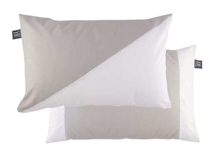 WATERPROOF Водоотталкивающие подушка (2 шт.) 60х40 см., серая с белым