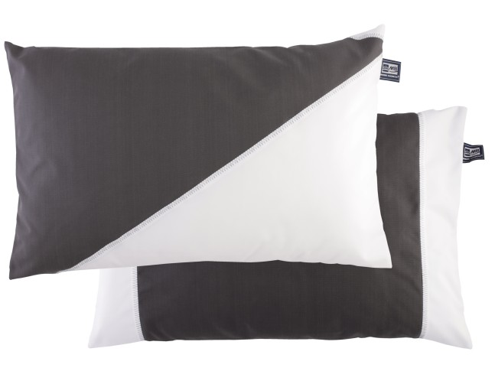 WATERPROOF Водоотталкивающие подушка (2 шт.) 60х40 см., темно серая с белым