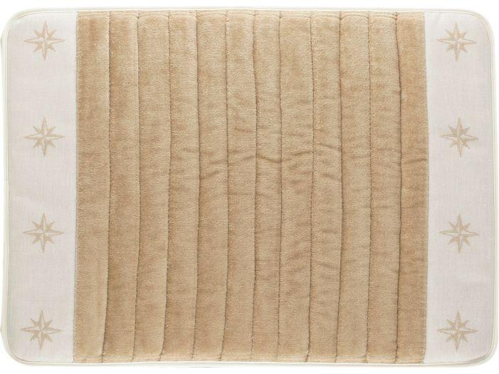 FREE STYLE Душевой коврик с нескользящей основой 60x45 см., бежевый