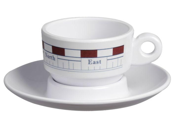 MISTRAL кофейная чашка с блюдцем, набор 6 шт.