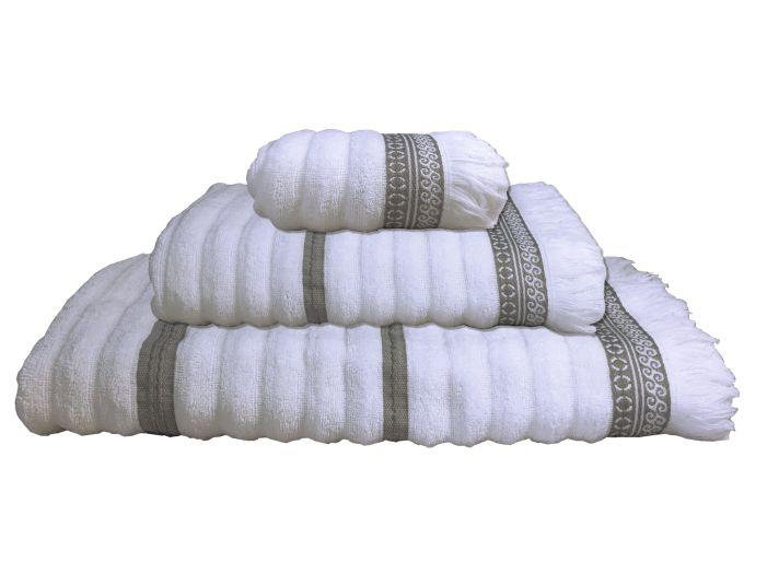 SANTORINI комплект 3 полотенца, белые волны