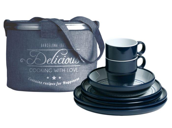 COLUMBUS набор посуды на 4 персоны с нескользящей основой , 13 предметов