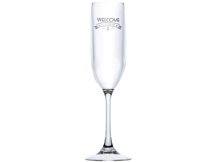 PARTY бокалы для шампанского PL Welcome, набор 6 шт.