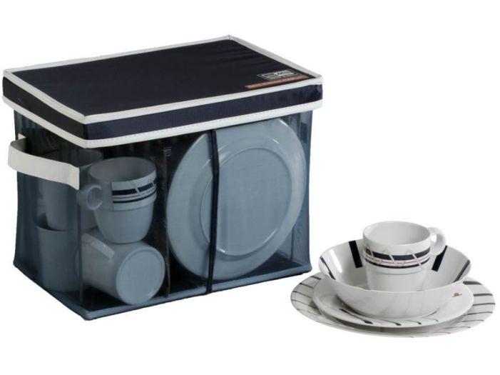 CANNES набор посуды с нескользящей основой, 24 шт.
