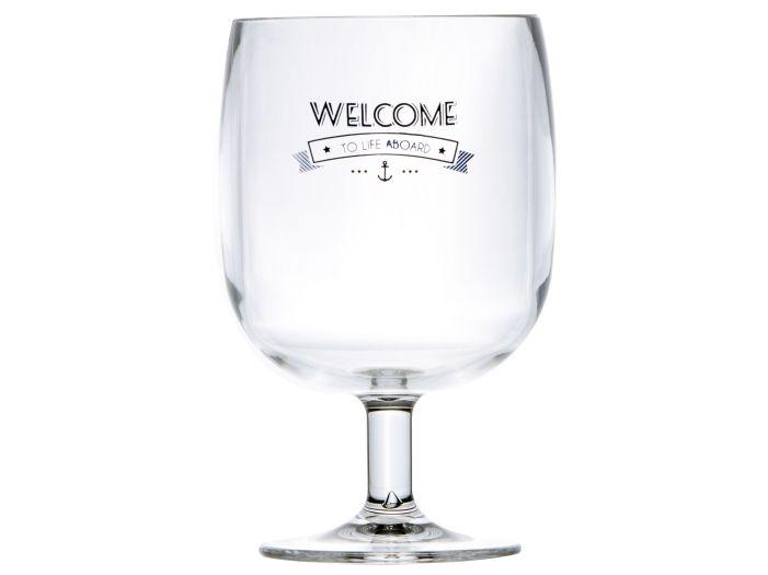 PARTY бокалы для воды / вина на ножке PL Welcome, набор 6 шт.