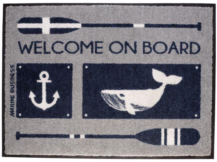 "WELCOME Коврик входной ""WELCOME ON BOARD"", 70 x 50 см."