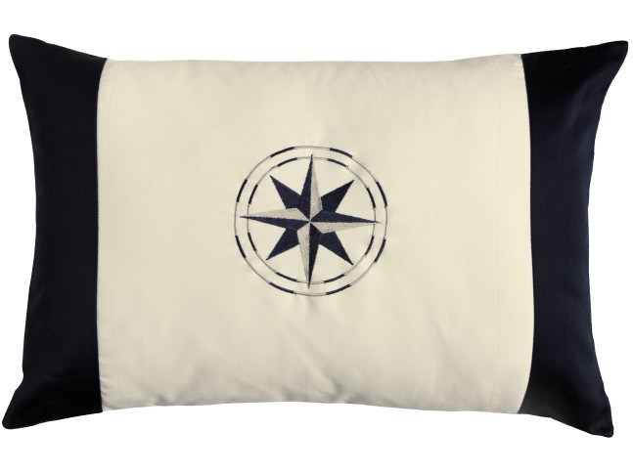 FREE STYLE Декоративная подушка Wind Rose, бело-синяя, 60 x 40 см