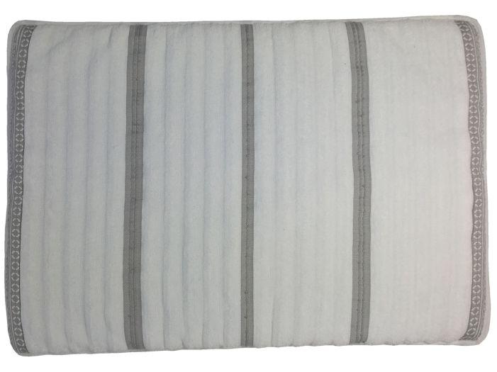 SANTORINI Душевой коврик с нескользящей основой 60x45 см., белые волны