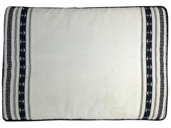 """SANTORINI Душевой коврик """"White Anchors"""" 60x45 см., с нескользящей основой"""