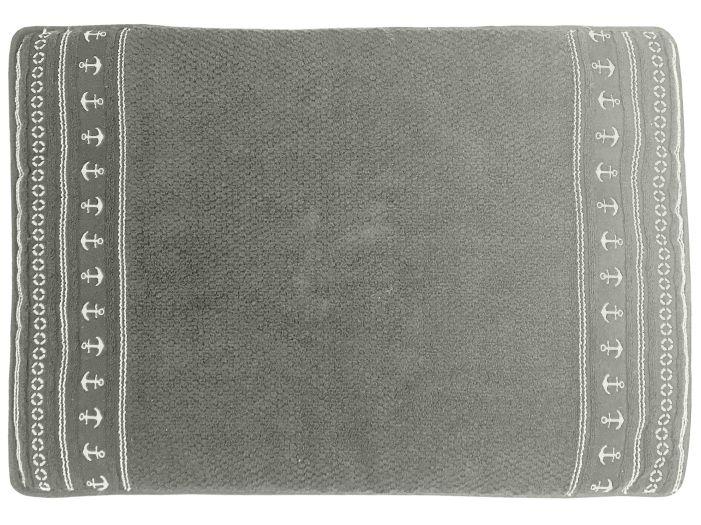 """SANTORINI Душевой коврик """"Grey Anchors"""" 60x45 см., с нескользящей основой"""