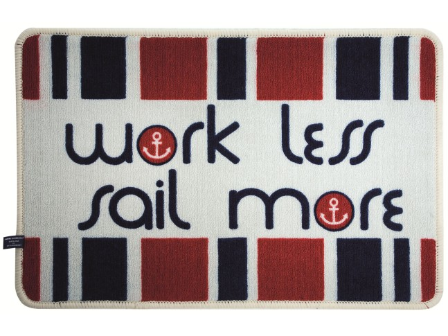 "WELCOME Коврик входной ""WORK LESS SAIL MORE"""