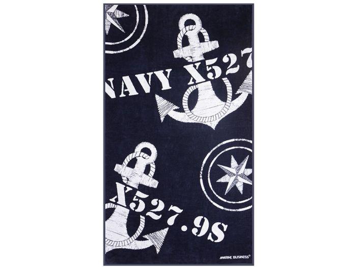 FREE STYLE Blue Navy пляжное полотенце с надувной подушкой, 180 x 100 см.