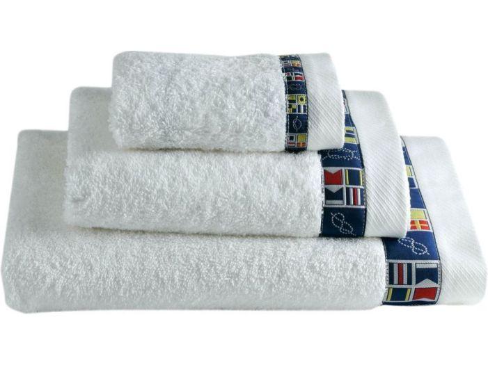 COLORS набор 3 полотенца, белые
