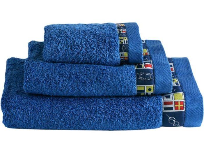 COLORS набор 3 полотенца, синие