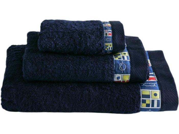 COLORS набор 3 полотенца, темно-синие