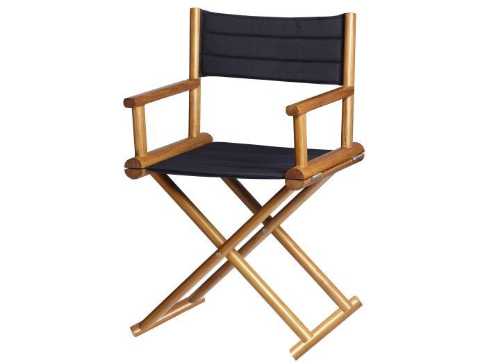 TEAK Складывающийся тиковый стул со спинкой, Blue Navy