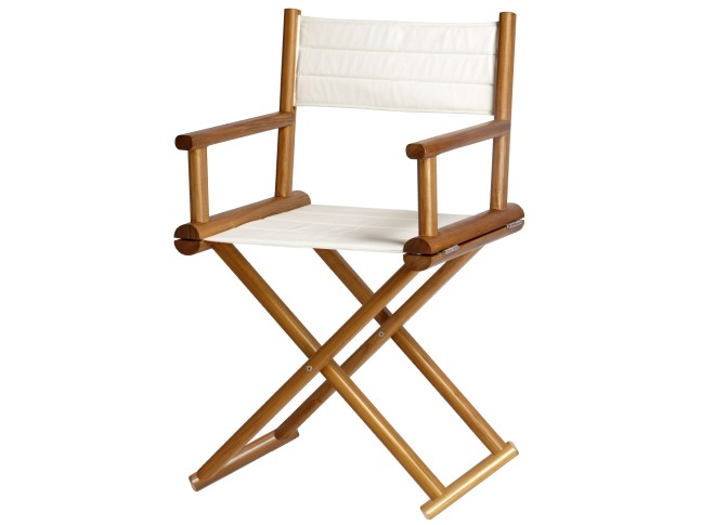 TEAK Складывающийся тиковый стул со спинкой, Star White