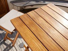 Складной стол из тикового дерева квадратный