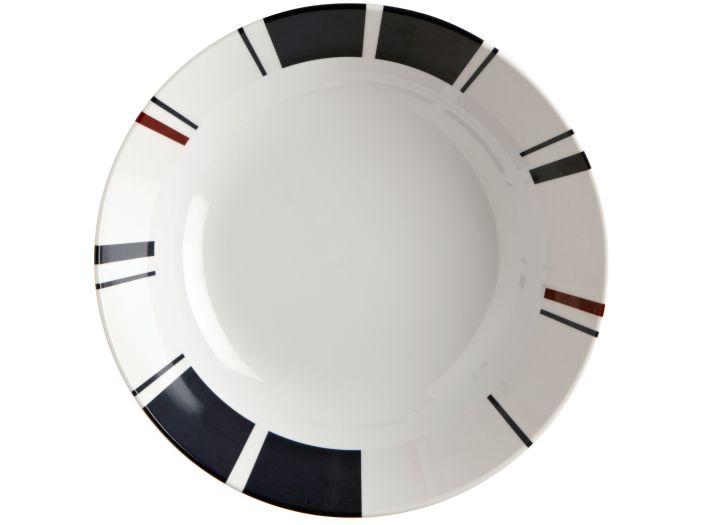 MONACO тарелка глубокая с нескользящей основой, набор 6 шт.