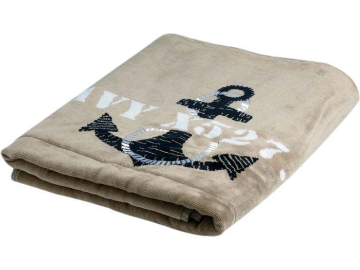 FREE STYLE Beige пляжное полотенце с надувной подушкой, 180 x 100 см.