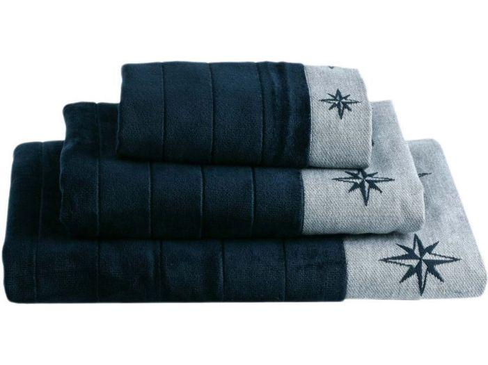 FREE STYLE комплект 3 полотенца, темно-синий