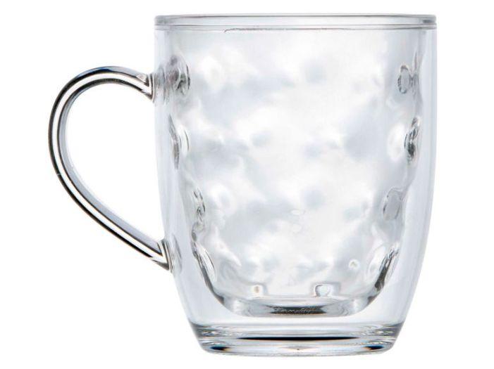 LUX кружка для воды с двойными стенками, прозрачные набор 6 шт