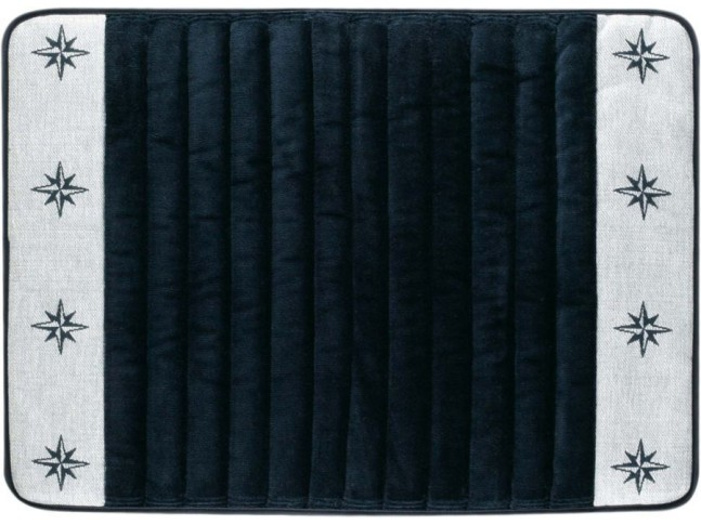 FREE STYLE Душевой коврик с нескользящей основой 60x45 см., синий