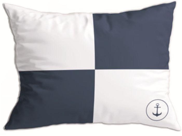 SANTORINI декоративные подушки (2 шт.) Flag II Blue, синие 40 x 30 см.