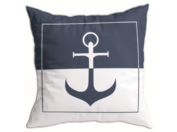 SANTORINI декоративные подушки (2 шт.) Anchor Blue, бежевые 40 x 40 см.