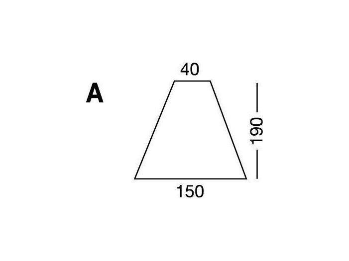 Простынка на резинке, форма кровати по схеме A, White