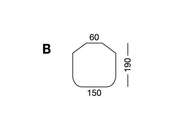 Простынка на резинке, форма кровати по схеме B, White
