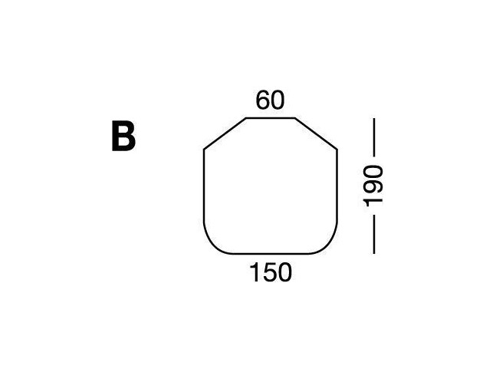 Простынка на резинке, форма кровати по схеме B, Beige